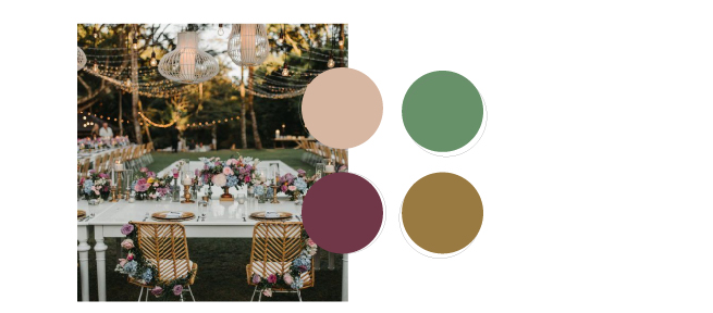 paleta de colores de boda